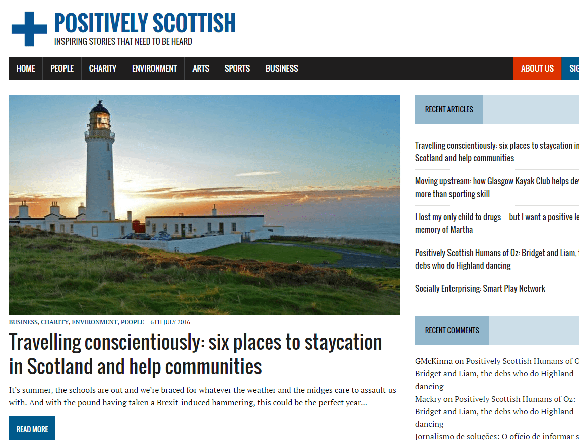 Former workshop participant starts 'Positively Scottish'